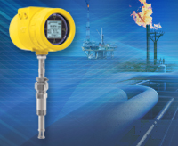 FCI Model ST100 flow meter with onshore/offshore pipeline images