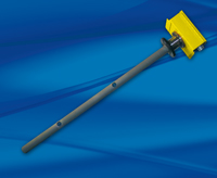 Yellow meter with black carbide coated insertion sensor