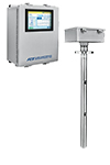 MT100 steel enclosure with display, steel multipoint sensor insertion meter