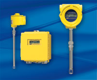 Yellow FCI ST meter series; remote, box, insertion meter