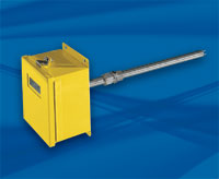 Yellow FCI ST98 meter box and insertion sensor