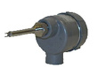 Gray enclosure flow meter with stainless steel probe