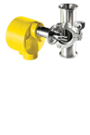 FCI Model FLT93C with yellow enclosure and hygienic process flow element
